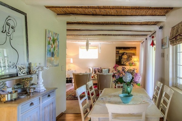 Bay Tree Cottage Greyton Guest Kitchen Dining Area