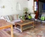 greyton self catering accommodation shady oaks outside entertainment area