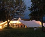 the oaks estate greyton wedding venue marquee tent nighttime