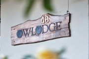 owl lodge cottage name plaque