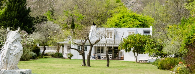 the earthy inn greyton house view from garden